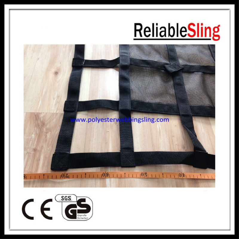 High Safety Webbing Cargo Net for truck / car / ship 25mm 35mm 50mm Width