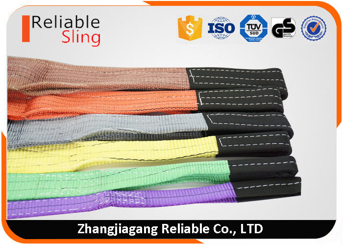 Polyester Hoisting Flat Web Sling With Safety Factor 6 Times Single Ply / Multi - Plies
