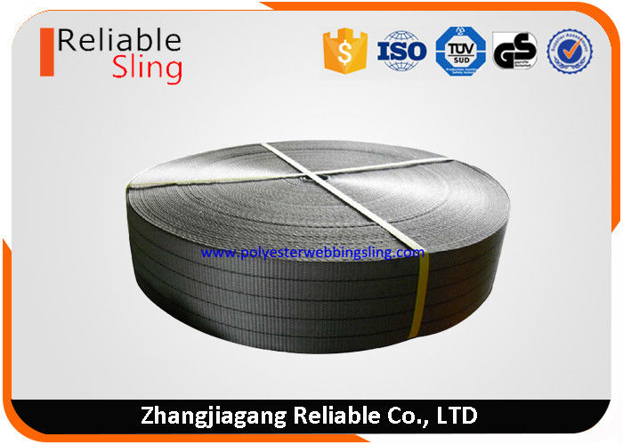 Width 100mm Grey Strong Polyester Sling Webbing High Tenacity Industrial Webbing