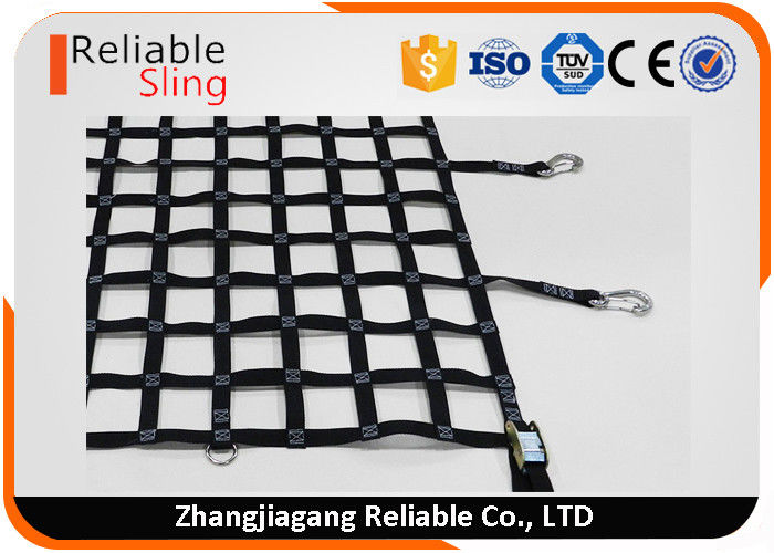 Polyester Webbing Cargo Net Weather Resistant For Car Trailer Container