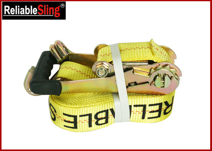 Customized Double J Hook Heavy Duty Ratchet Tie Down Strap Cargo Lashing Strap