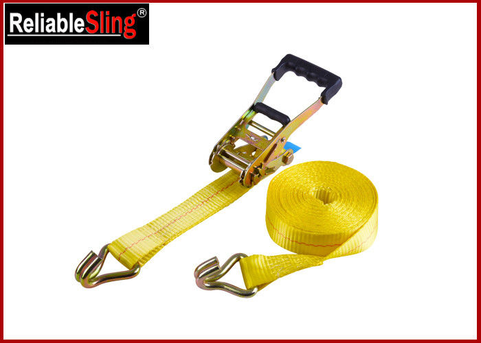 "Premium Ratchet Cargo Tie Down Straps 2"" x 27 ft Double J Hook Strap"