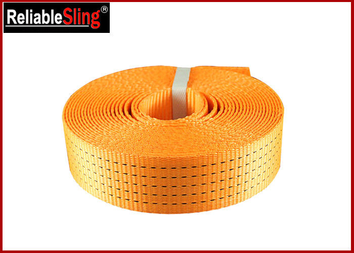 Heavy Duty Polyester Ratchet Strap Webbing / Striped Tie Down Webbing